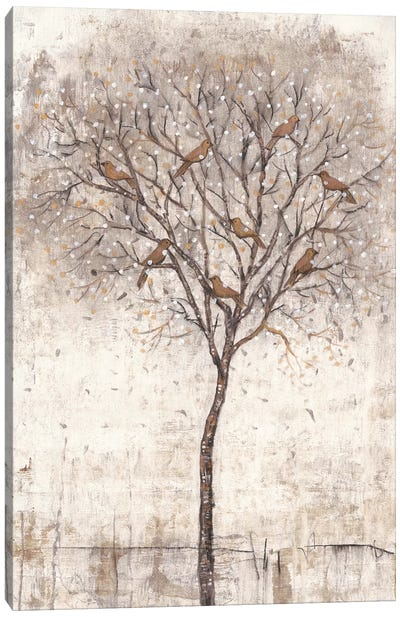 Tree Of Birds I Canvas Art Print