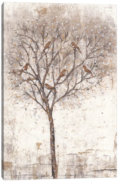 Tree Of Birds II Canvas Art Print