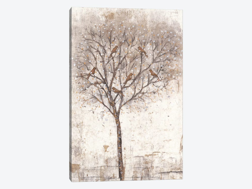 Tree Of Birds II 1-piece Canvas Art