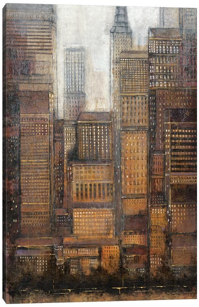 Uptown City I Canvas Art Print