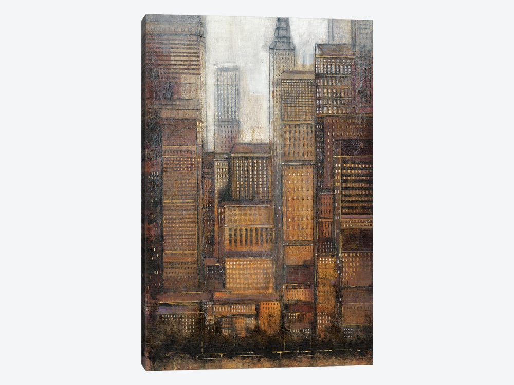 Uptown City I by Tim OToole 1-piece Canvas Art Print