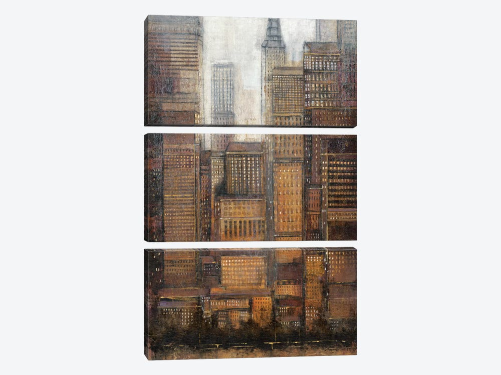 Uptown City I by Tim OToole 3-piece Canvas Art Print