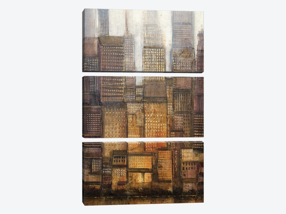 Uptown City II by Tim O'Toole 3-piece Canvas Wall Art