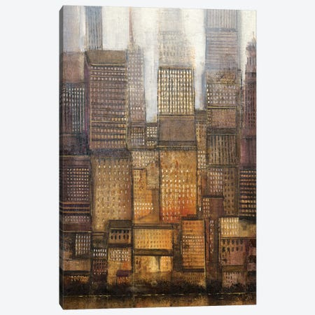 Uptown City II Canvas Print #TOT299} by Tim OToole Canvas Artwork
