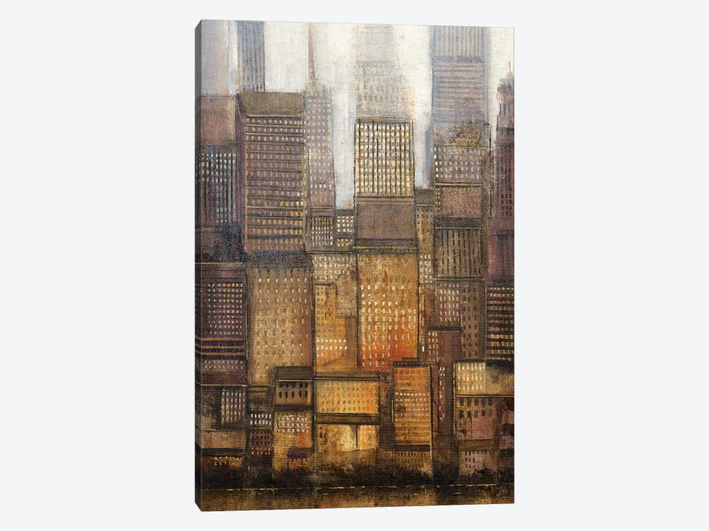 Uptown City II by Tim OToole 1-piece Canvas Artwork