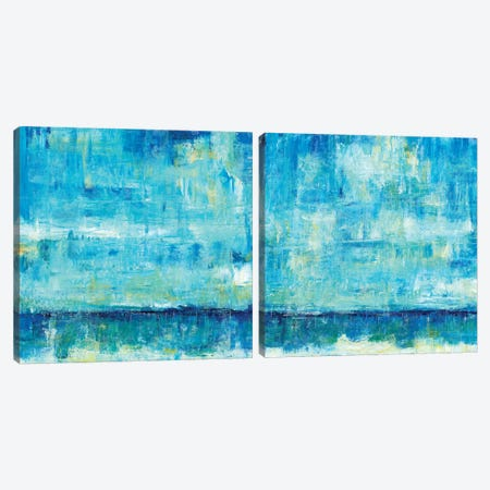 Water Reflections Diptych Canvas Print Set #TOT2HSET002} by Tim OToole Canvas Artwork