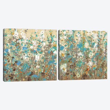 Flowering Vines Diptych Canvas Print Set #TOT2HSET006} by Tim OToole Art Print
