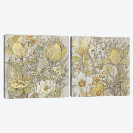 Mix Floral Diptych Canvas Print Set #TOT2HSET008} by Tim O'Toole Canvas Wall Art