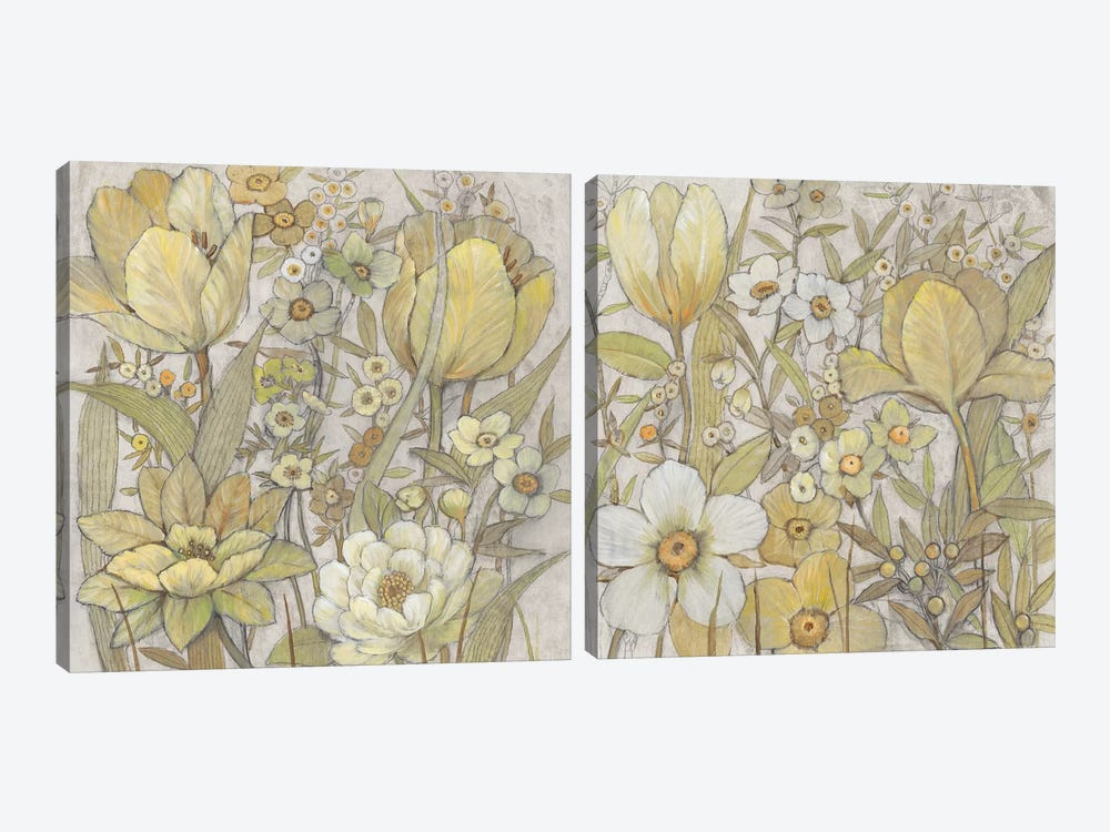 Mix Floral Diptych by Tim OToole 2-piece Canvas Art