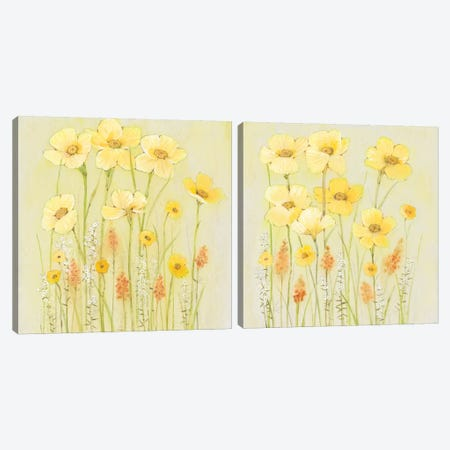 Soft Spring Floral Diptych Canvas Print Set #TOT2HSET009} by Tim O'Toole Canvas Art