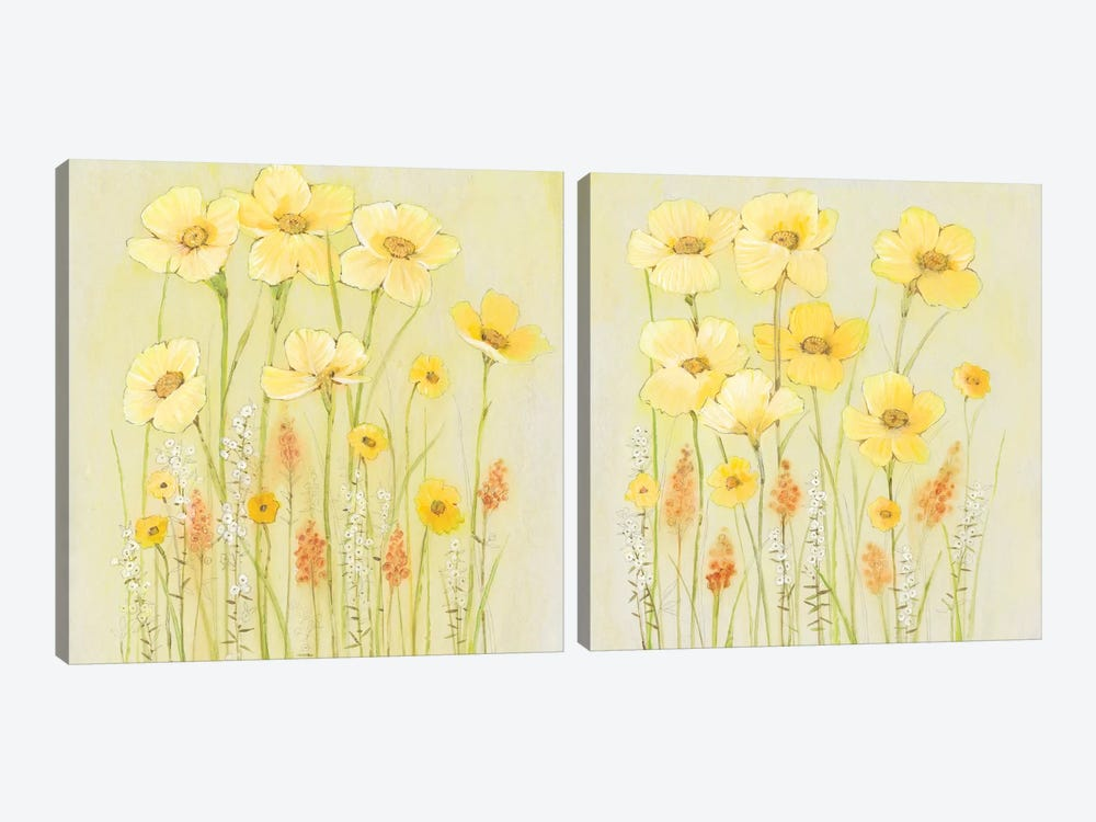 Soft Spring Floral Diptych by Tim O'Toole 2-piece Canvas Art Print