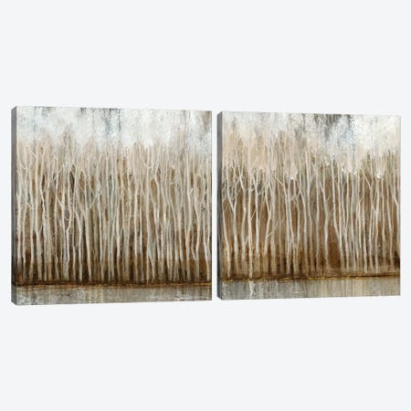 Whispering Trees Diptych Canvas Print Set #TOT2HSET011} by Tim OToole Art Print