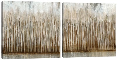 Whispering Trees Diptych Canvas Art Print