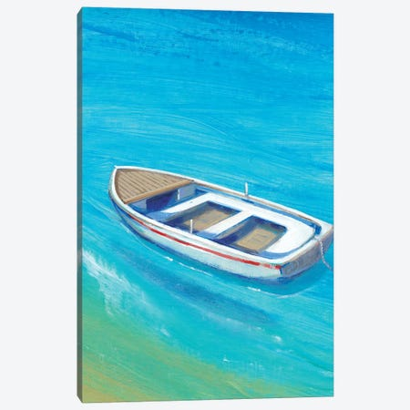 Anchored Dinghy I Canvas Print #TOT308} by Tim OToole Canvas Artwork