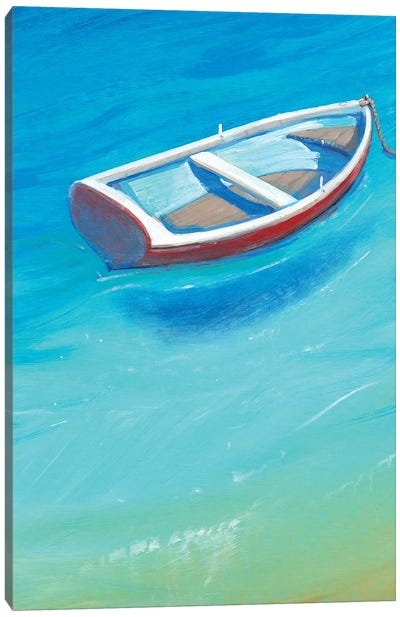Anchored Dinghy II Canvas Art Print