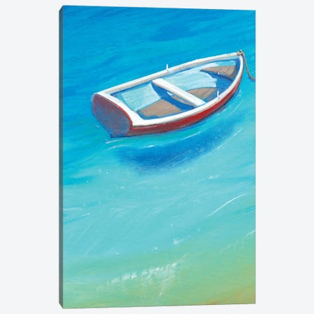Anchored Dinghy II Canvas Print #TOT309} by Tim OToole Canvas Art