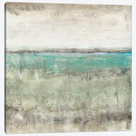 Aqua Horizon I Canvas Print #TOT310} by Tim OToole Art Print