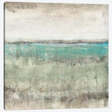 Aqua Horizon I Canvas Print #TOT310} by Tim OToole Art Print