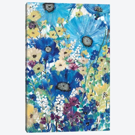 Garden Blues I Canvas Print #TOT322} by Tim OToole Canvas Wall Art