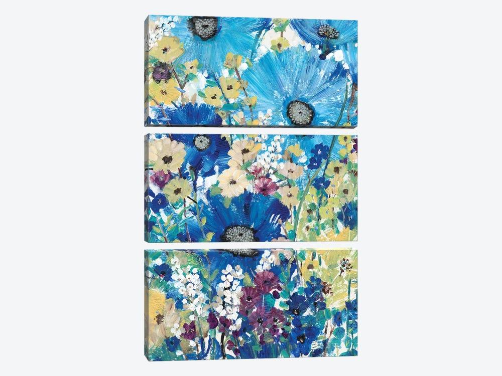 Garden Blues I by Tim OToole 3-piece Canvas Art Print