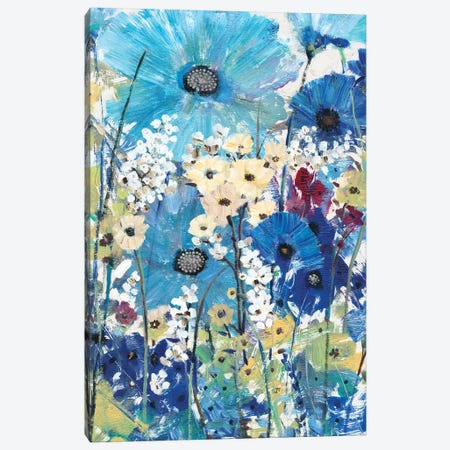 Garden Blues II 3-Piece Canvas #TOT323} by Tim OToole Canvas Wall Art