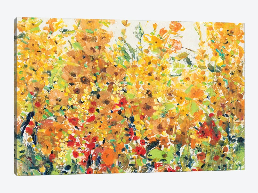 Golden Summer Garden II 1-piece Canvas Art