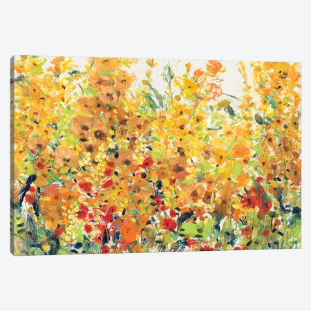 Golden Summer Garden II 3-Piece Canvas #TOT325} by Tim OToole Canvas Print