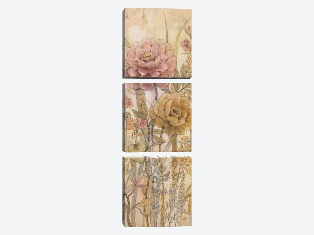Floral Chinoiserie II by Tim OToole 3-piece Canvas Art
