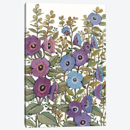 Hollyhocks in Bloom I Canvas Print #TOT378} by Tim OToole Canvas Print
