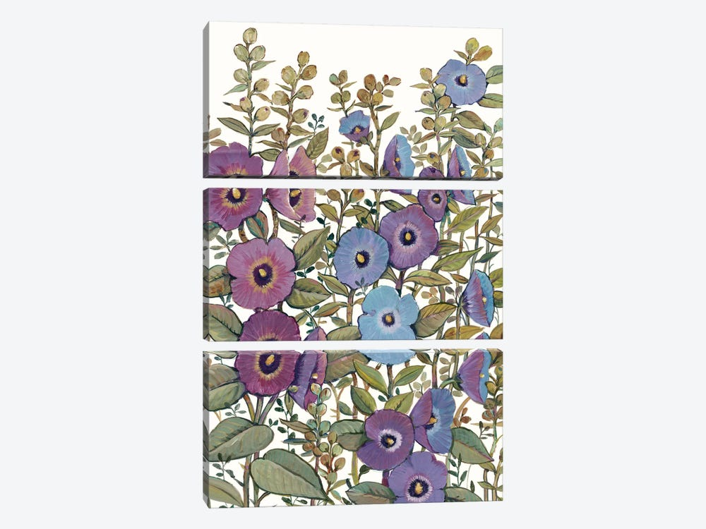 Hollyhocks in Bloom I by Tim OToole 3-piece Canvas Wall Art