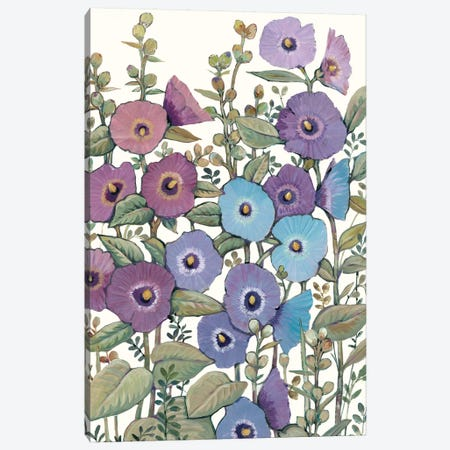 Hollyhocks in Bloom II Canvas Print #TOT379} by Tim OToole Art Print