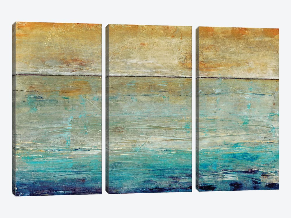 Placid Water I by Tim OToole 3-piece Canvas Wall Art