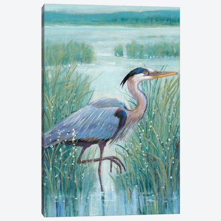 Wetland Heron I Canvas Print #TOT406} by Tim OToole Canvas Artwork