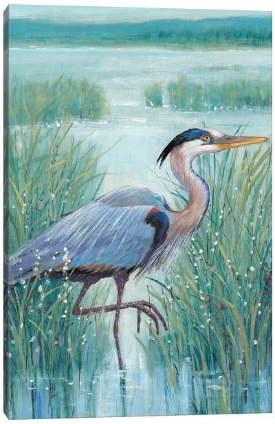 Wetland Heron I Canvas Art Print