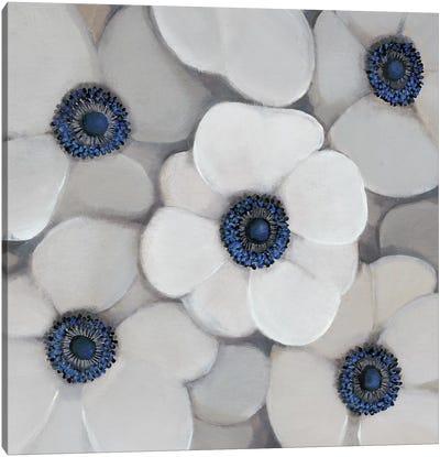 White Anemone I Canvas Art Print