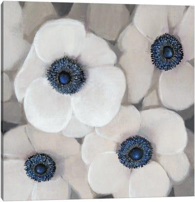 White Anemone II Canvas Art Print