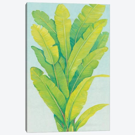 Chartreuse Tropical Foliage II Canvas Print #TOT451} by Tim OToole Canvas Artwork