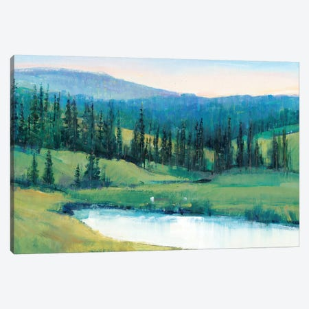 Mountain Retreat II 3-Piece Canvas #TOT499} by Tim OToole Canvas Wall Art