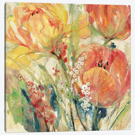 Spring Tulip Array I Canvas Print #TOT508} by Tim OToole Canvas Wall Art