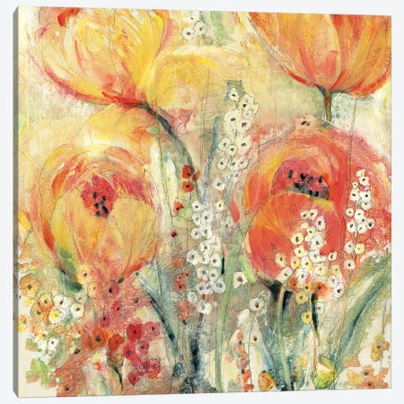 Spring Tulip Array II Canvas Print #TOT509} by Tim OToole Canvas Wall Art