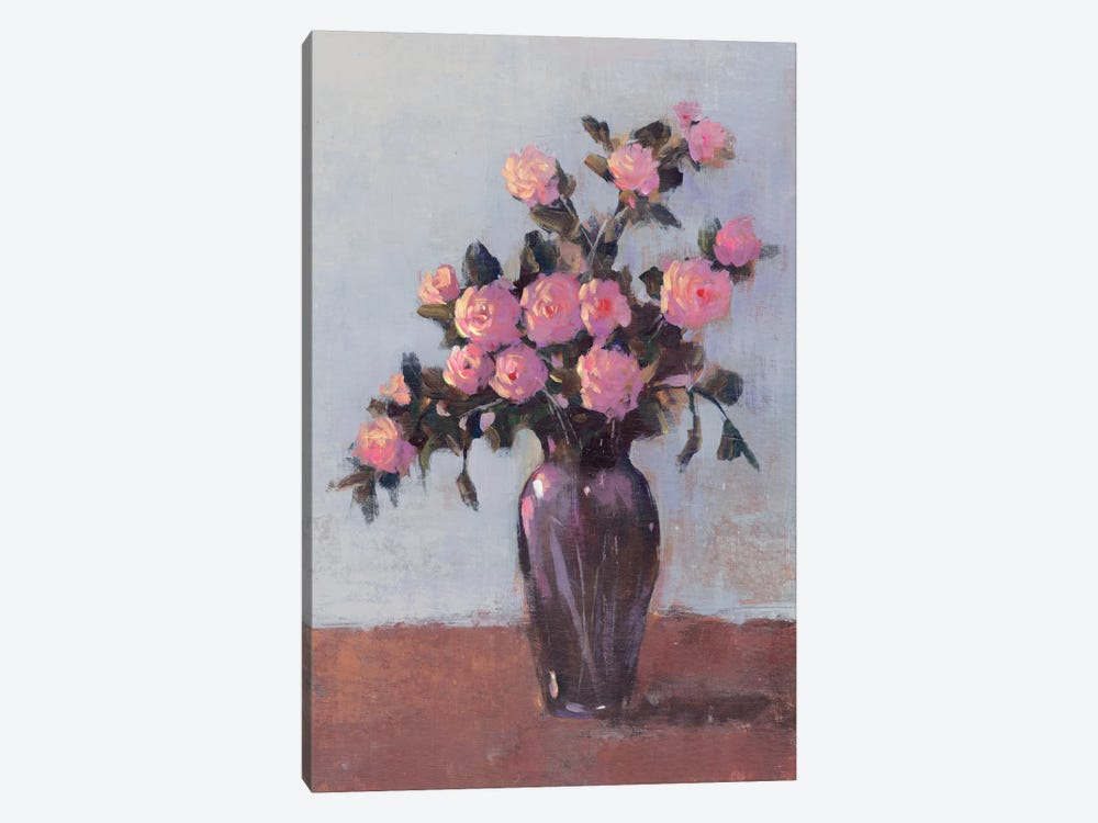 Soft Lit Roses I 1-piece Canvas Art