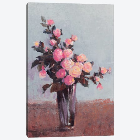 Soft Lit Roses II 3-Piece Canvas #TOT57} by Tim OToole Canvas Print