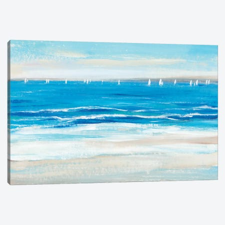 Low Cerulean Tide I Canvas Print #TOT591} by Tim OToole Canvas Print