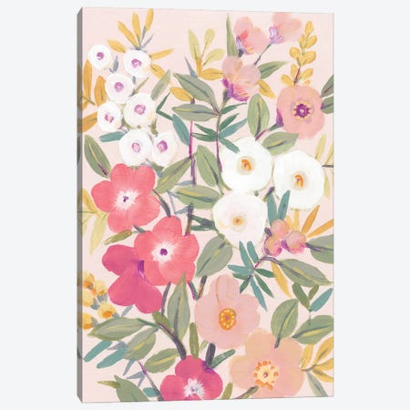 Pretty Pink Floral I Canvas Print #TOT597} by Tim OToole Canvas Art