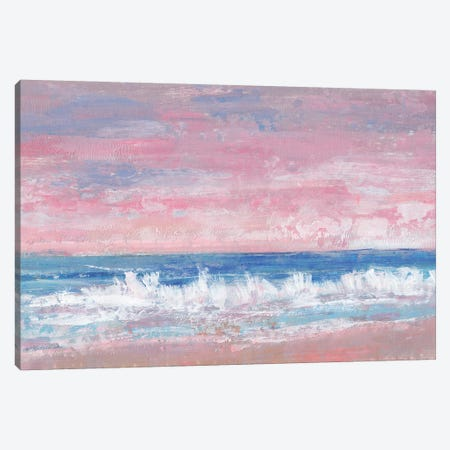 Coastal Pink Horizon II Canvas Print #TOT618} by Tim OToole Canvas Art