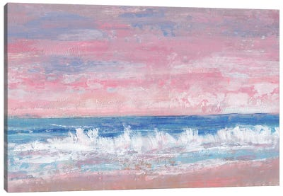 Coastal Pink Horizon II Canvas Art Print