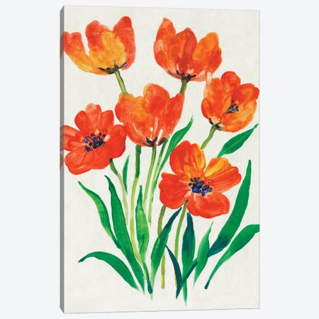 Red Tulips in Bloom II Canvas Print #TOT622} by Tim OToole Art Print