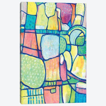 Stained Glass Composition I Canvas Print #TOT623} by Tim OToole Canvas Print