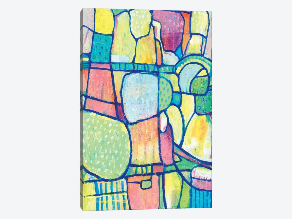 Stained Glass Composition I by Tim OToole 1-piece Canvas Wall Art