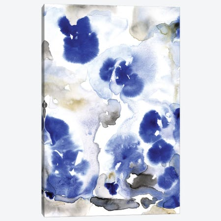Blue Pansies I Canvas Print #TOT633} by Tim OToole Canvas Wall Art
